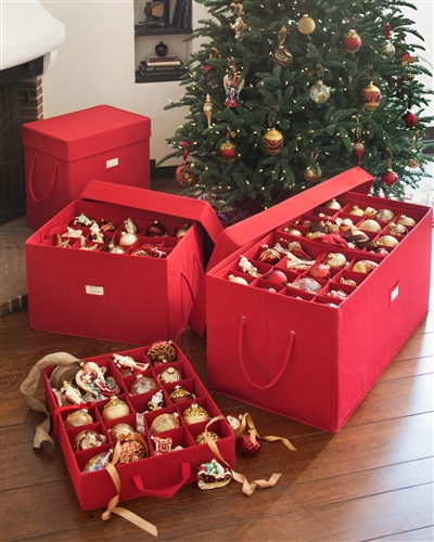 "Balsam Hill's <a href=""http://www.balsamhill.com/Christmas-Ornament-Storage-Box-p/stg-1441004.htm"" target=""_blank"">Ornament Storage Box</a>"