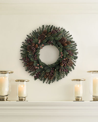 Balsam Hill's rustic California Baby Redwood wreath