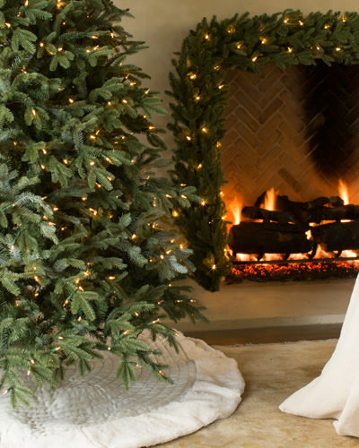 Our BH Fraser Fir™ Narrow Flip Tree with Candlelight™ LED lights
