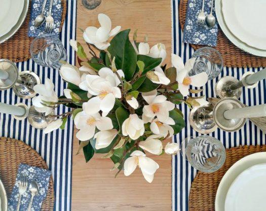 Balsam Hill's elegant Park Avenue Magnolia Bloom