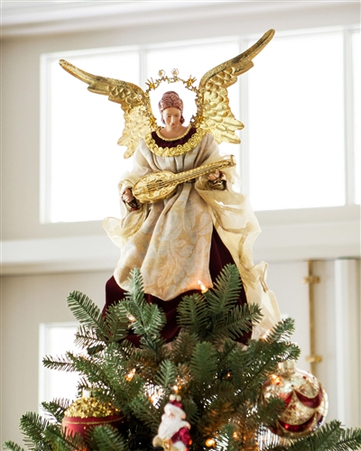 Balsam Hill's Angel Christmas Tree Topper