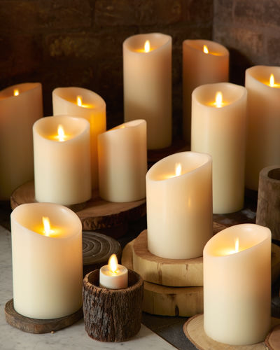 Balsam Hill's Miracle Flame Battery-Operated Wax Pillar Candle
