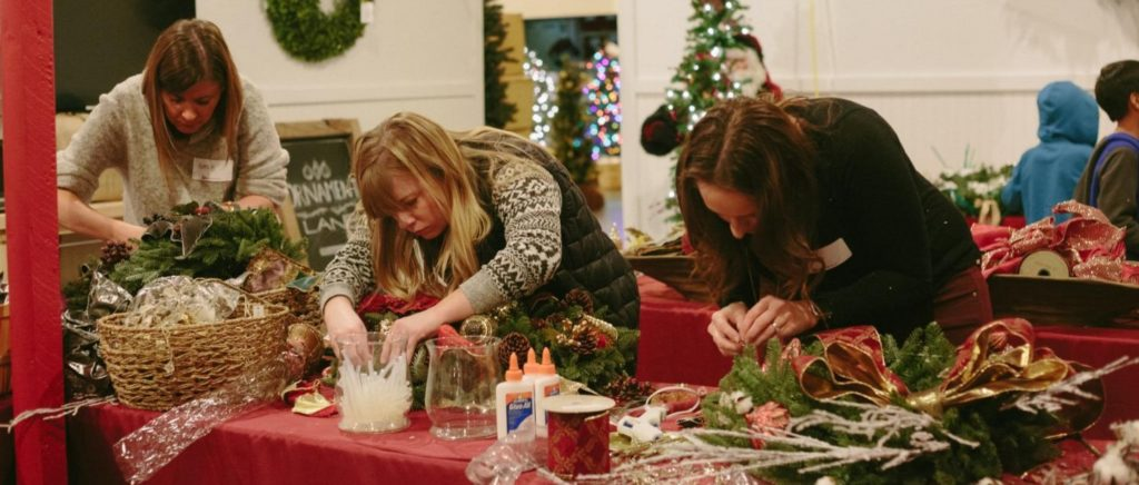 Crafting with holiday materials