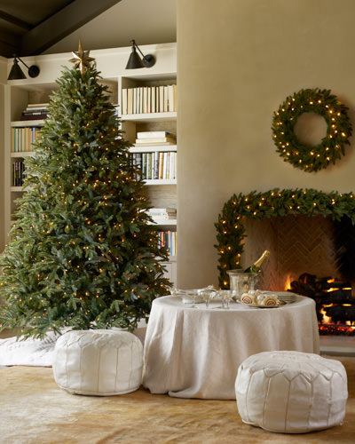 Balsam Hill's Fraser Fir Christmas tree along with our Fraser Fir foliage