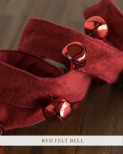 Balsam Hill's Red Felt Bell Ribbon