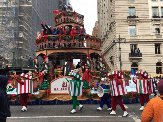 The Macy's Thanksgiving Day Parade is one of New York City's much-loved traditions. In 2016, Balsam Hill participated with its very own float (Photo courtesy of Cathy Thompson)