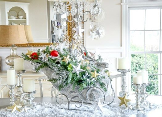 Christmas vignette from Stone Gable Blog
