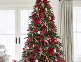 Balsam Hill California Baby Redwood Tree with Nordic Frost Ornaments