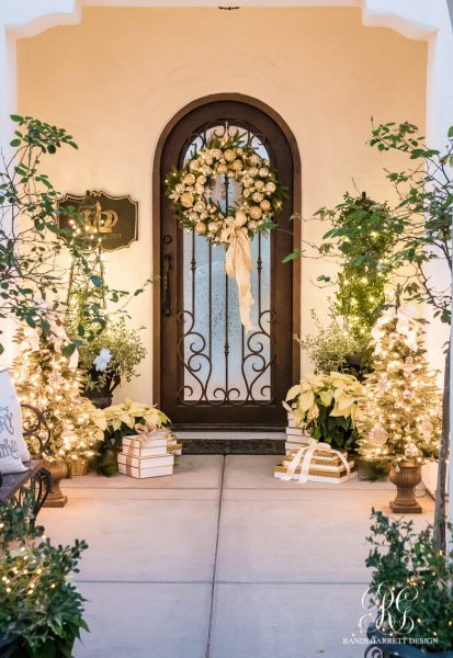 Silver and Gold Christmas Porch