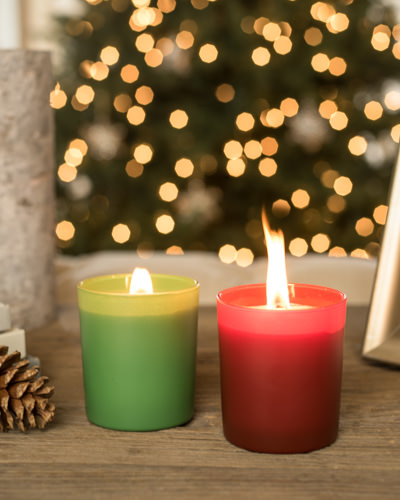 Add bright color and evocative scent to gatherings with the Italian Scented Candles