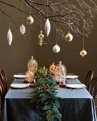 Balsam Hill's Nordic Frost Ornament Set