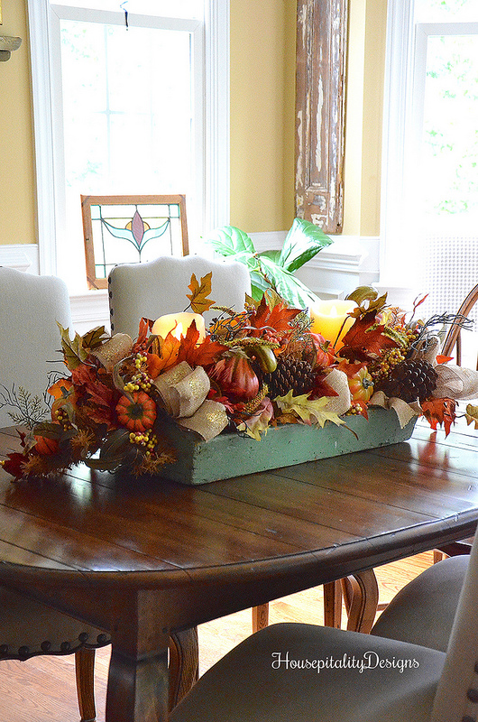 Rustic yet refined autumn tablescape
