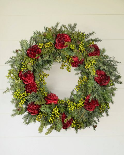 Holiday Peony Wreath