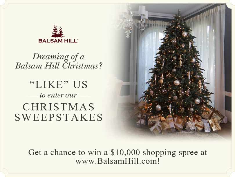 Balsam Hill Christmas Sweepstakes Holiday Design