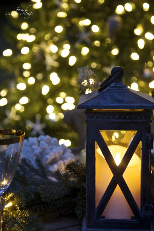 Vintage-inspired lanterns add ambiance and charm