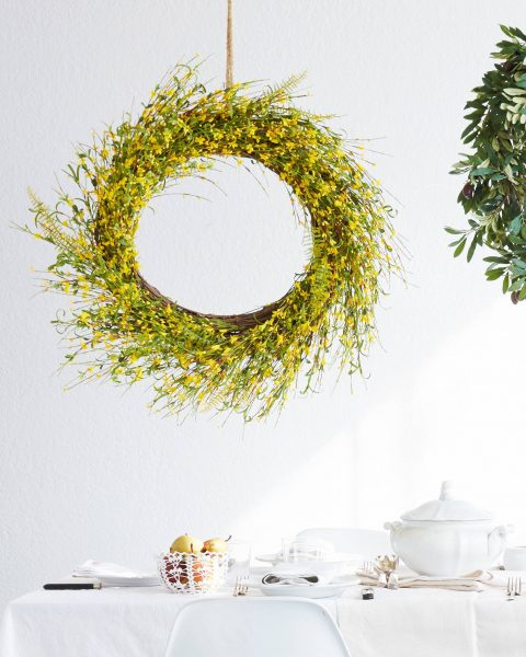Forsythia Flower Wreath