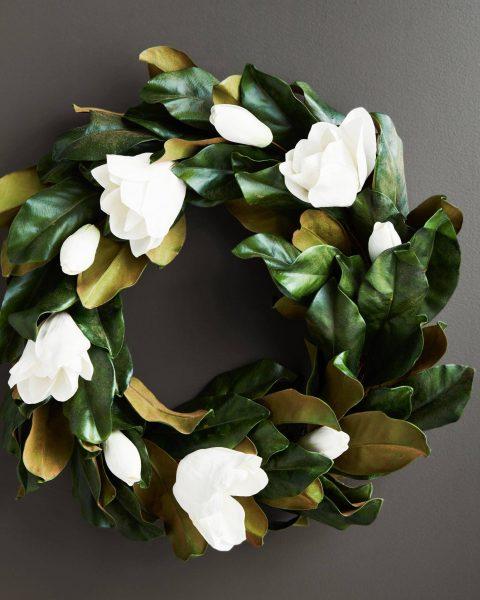Magnolia Flower Wreath