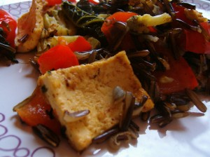 Balsam Hill Wild Rice and Grilled Tofu and Veggies