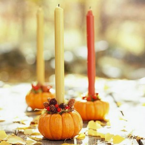 Balsam Hill Pumpkin Candle Holders