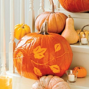 Carved Pumpkins and Gourds