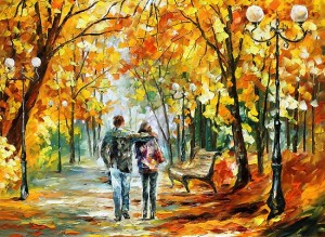 paintings that inspire: Going Home Oil Painting by Leonid Afremov
