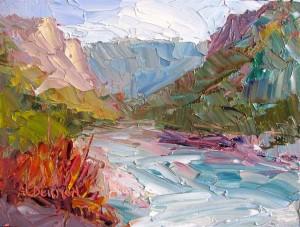 paintings that inspire: Rio Grande Oil Painting by Roger Alderman