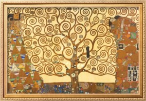 paintings that inspire: Tree of Life by Gustav Klimt
