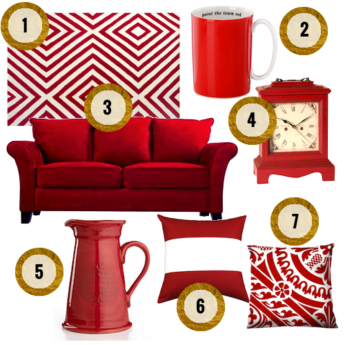 red accessories for your home