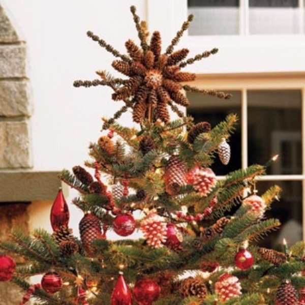 a pastoral pinecone christmas tree topper