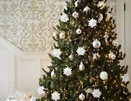 Fully Decorated Vermont White Spruce