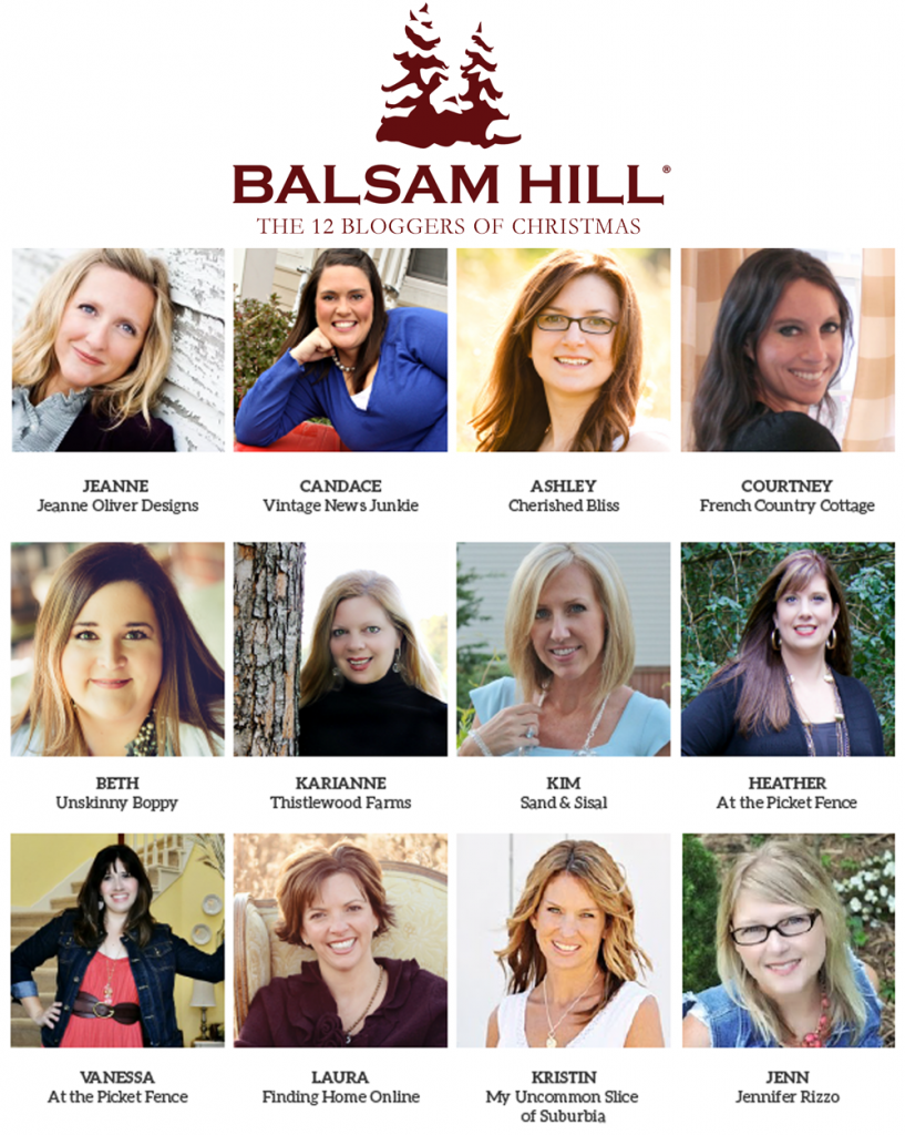 Balsam Hill presents 12 bloggers who will be sharing ideas on how to decorate an artificial Christmas tree using Balsam Hill products