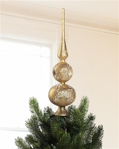 Our slender yet striking Gold Tree Topper