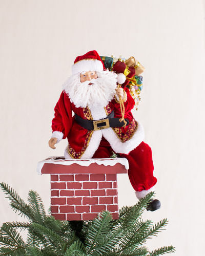 This vintage Jolly Saint Nick Tree Topper adds nostalgia and cheer