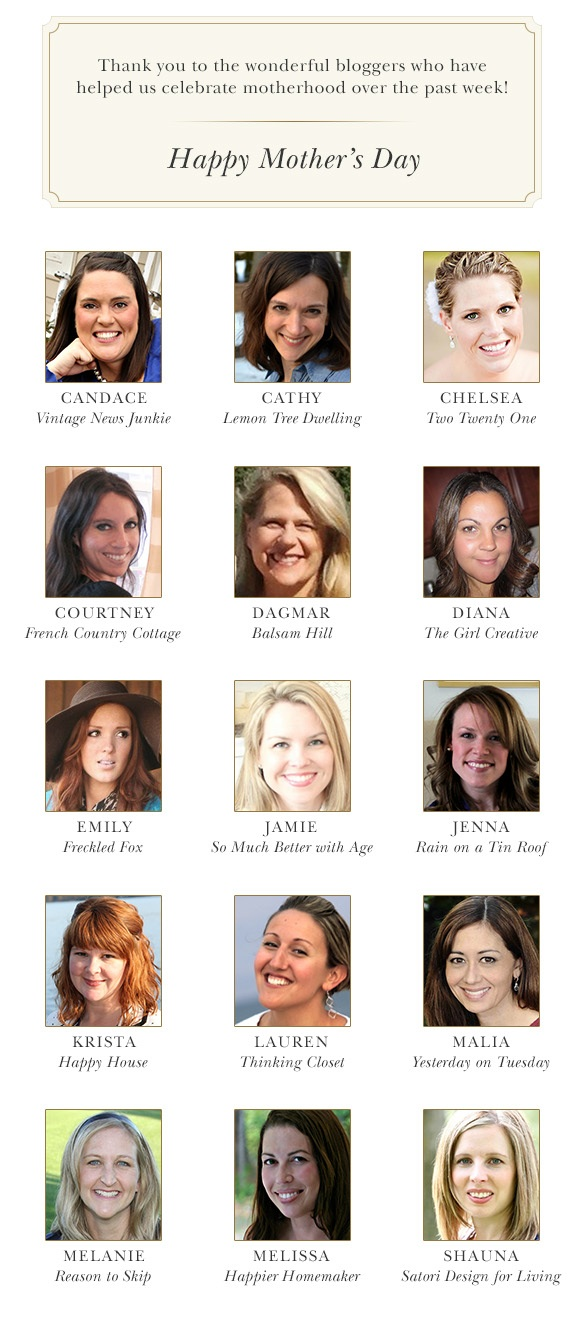 Celebrate Mom, Celebrate Life: Balsam Hill pays tribute to 15 wonderful design and lifestyle bloggers on Mother's Day