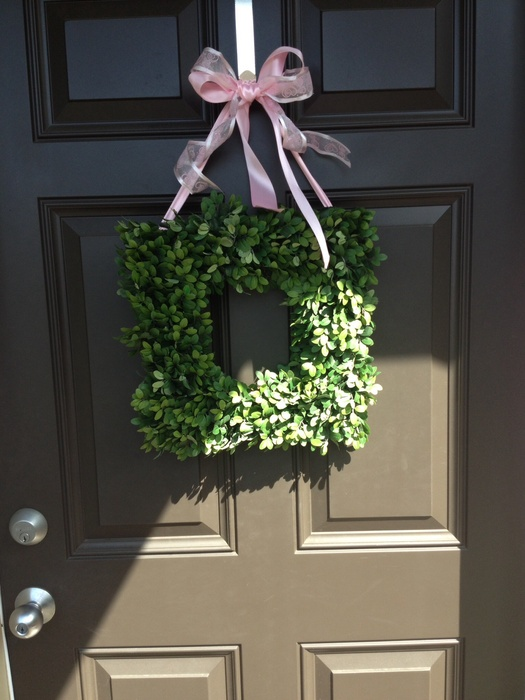 Dagmar's door with wreath