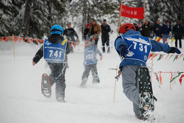 A Special Olympics WInter Games competition in 2011