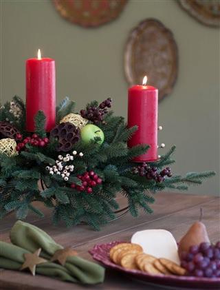 Cranbrook Orchard centerpiece decorates the dinner table
