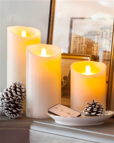 Battery-operated flameless candles from Balsam Hill