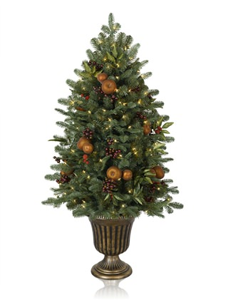 Orchard Harvest Potted Artificial Christmas tree