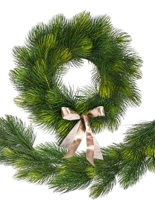 Majestic Pine Wreath and Garland from Balsam Hill