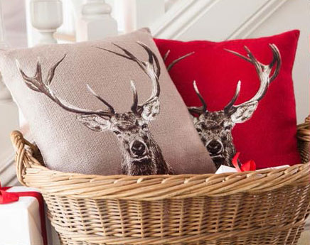 Deer pillow cover by Balsam Hill