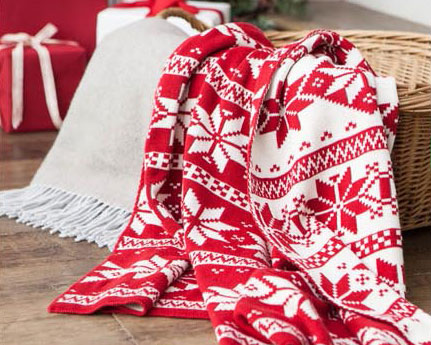Snowflake throw blankets by Balsam Hill
