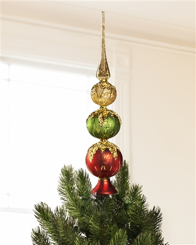 Mistletoe and Holly Tree Topper from Balsam Hill