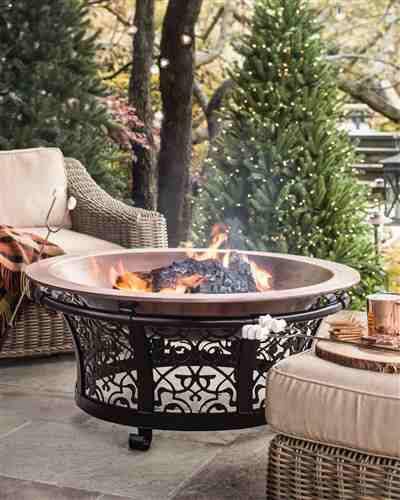 Heirloom Copper Fire Pit by Balsam Hill