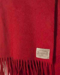 Red Cashmere Blend Throw by Balsam Hill