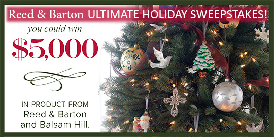 Reed and Barton Ultimate Holiday Sweepstakes 2014