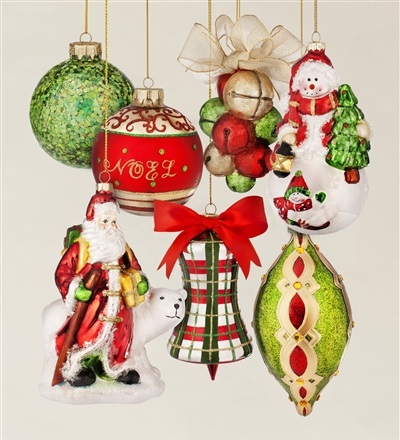 Mistletoe and Holly Ornament Set by Balsam Hill