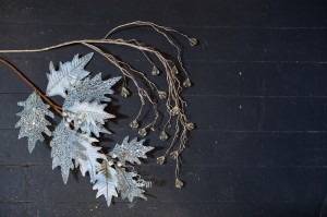 Winter Frost Decorating – Winter Frost Leaves and Winter Frost Jeweled Floral Sprays
