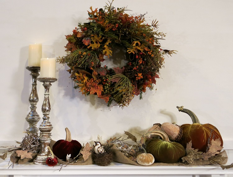 Autumn Fireplace Mantle by Balsam Hill