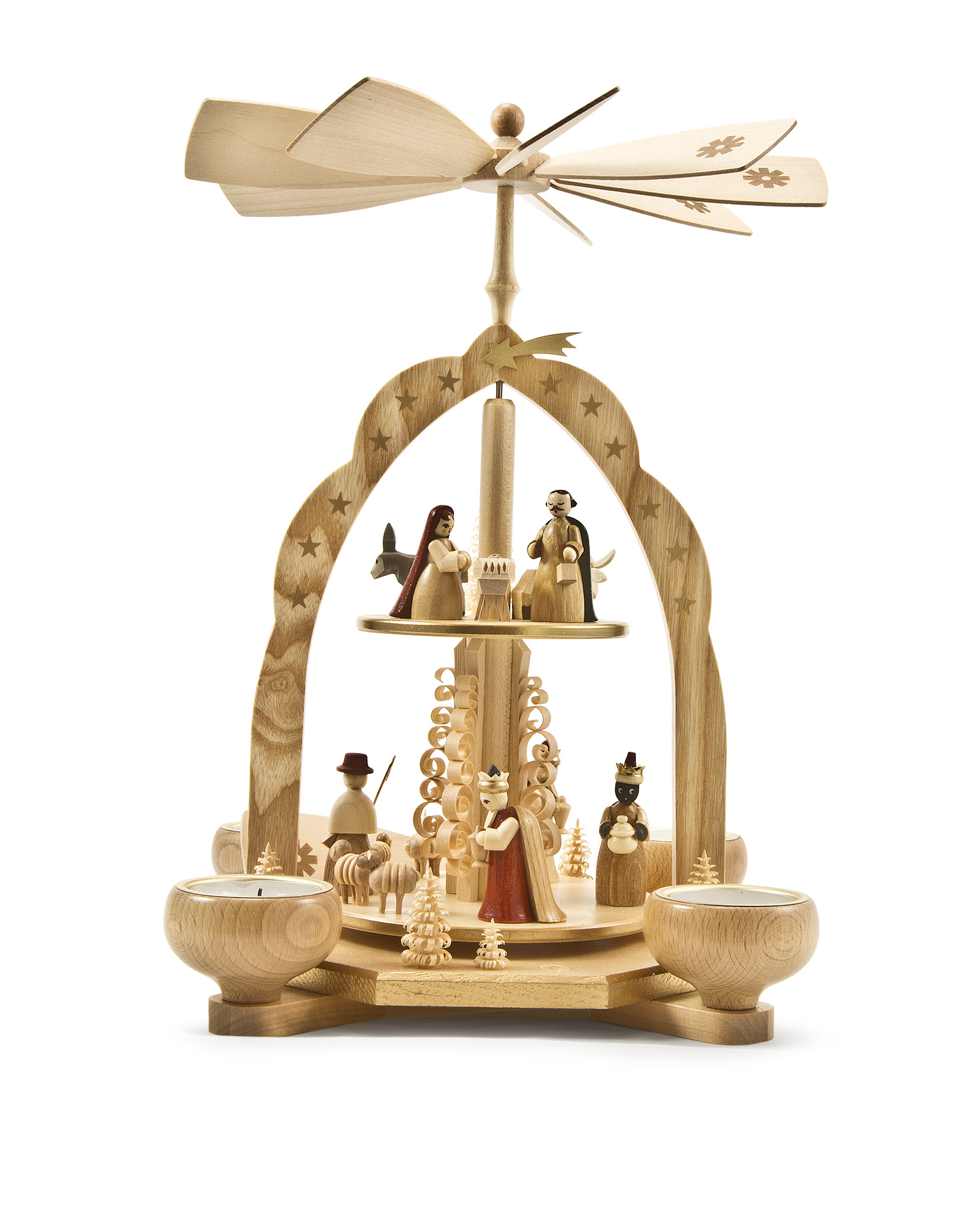Balsam Hill Handcrafted Items - German Pyramid Nativity